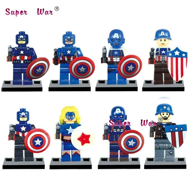 80pcs starwars superhero building blocks JR805 Captain America Collection bricks friends for boy games kids children toys