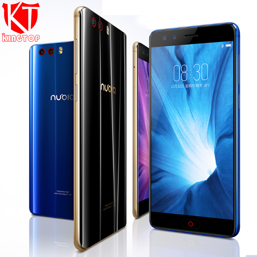 Mondial ROM ZTE Nubia Z17 mini S Mobile Téléphone Snapdragon 653 Octa Core 6g RAM 64g ROM 5.2 1080 p Double Avant Réel Caméra NFC téléphone
