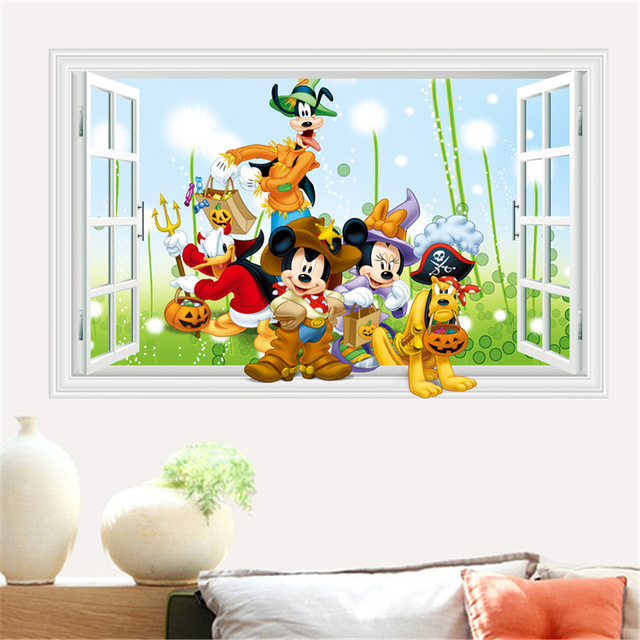 More Designs Mickey Mouse Clubhouse Minnie Wall Sticker-Free Shipping For Kids Rooms