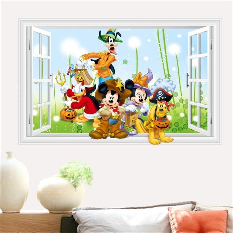 Vinilos Mickey Mouse Para Pared.0 74 50 De Descuento Mas Disenos Mickey Mouse Clubhouse Minnie Pared Pegatina Vinilo Extraible Arte Pared Calcomanias Bebe Habitacion Pegatina