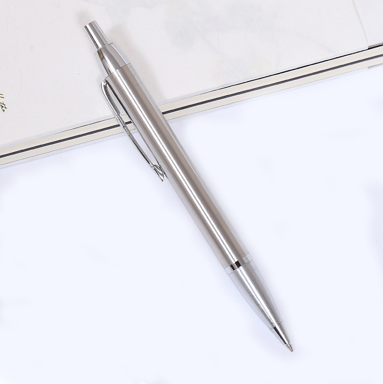 0.7mm Stainless Steel Metal Pen Ballpoint Pen with Replaceable Ball Pen Metal Material Business Gifts  2017 keyring telescoping hot outdoor thick mini retractable pen stainless steel metal ballpoint pen portable note keychain