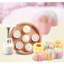 Chocolate Cookies Cake Mould 6 Molds + 1 Pressor 3D Party DIY Fondant Baking Cooking Cake Decorating Tools Silicone Mold New decorating cookies party