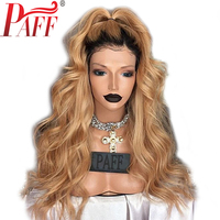 36C Two Tone Human Hair Full Lace Wig Body Wave Peruvian Remy Hair 180 Density Ombre Color Free Part 8 30 Inches for Women