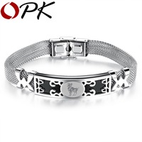 OPK 12 Constellations Design Man Bracelets Fashion Network Chain Luck Gift For Blessing 316L Stainless Steel