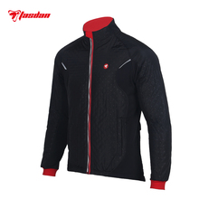 Tasdan Cycling Clothes Wear Mens Thermal Jacket Outdoor Three Layer Fabric Running