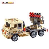 LOOMEN 210pcs Military Series DIY Toys Field Troops Air Defense Vehicles Particles Model Building Blocks Puzzle