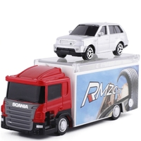 1:64 Scale Toy Vehicles For Scania Contruction Truck & 3 Diecaste Car Model For Range Rover Catapult Vehicle Car Model