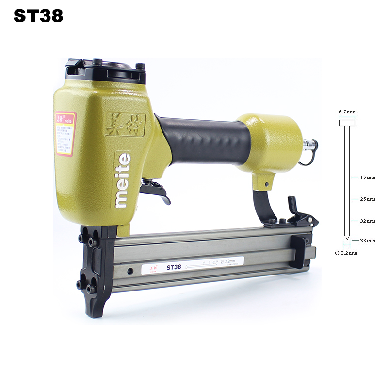 High Quality ST38 Professional Pneumatic Nailing Gun Air Stapler Gun Pneumatic Nailer Gun 15 38mm for