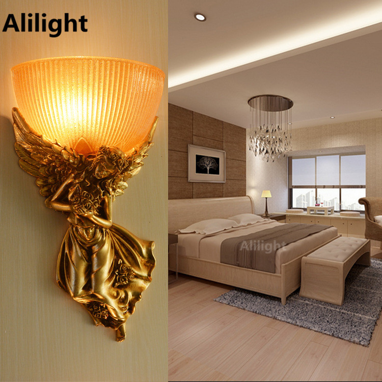 LED Wall Lamp Decorations European Style Retro Pastoral ...