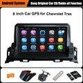 Обновлен Оригинальный Android 8 дюймов Автомобильный мультимедийный Плеер Костюм для Chevrolet Trax Автомобилей Gps-навигация Wi-Fi Bluetooth 16 Г Ram