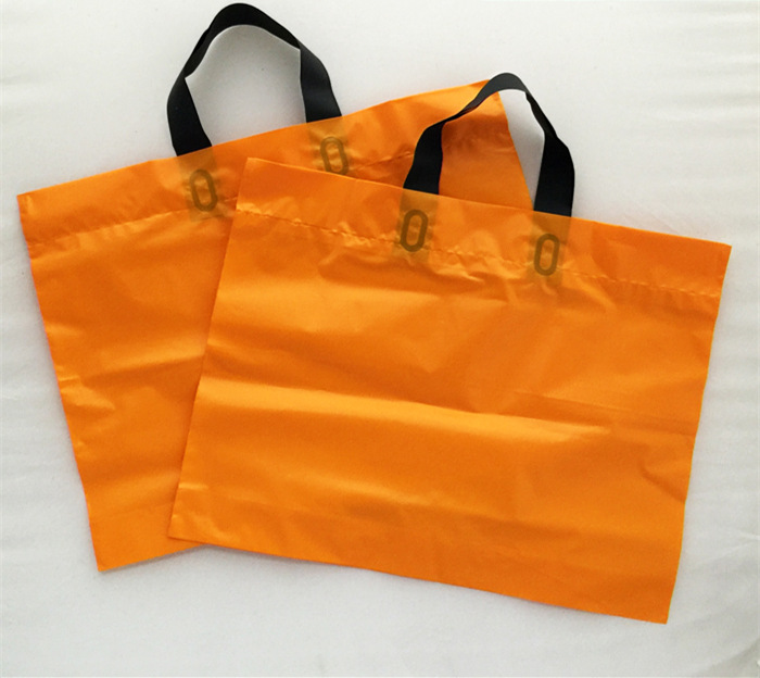 Plastic Gift Bag Shopping T-shirt Garment Wedding Favor Plastic Shopping Bag Carry Out for Retail Supermarket Grocery 50pcs