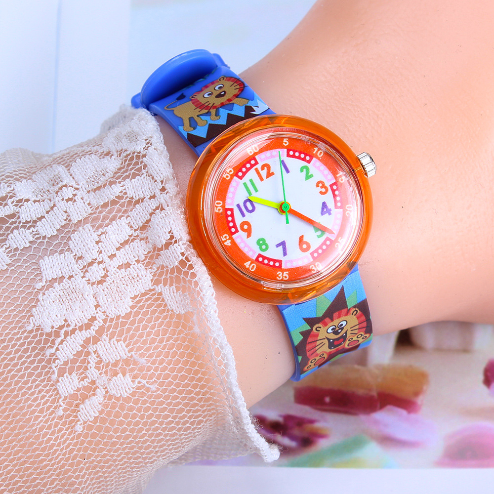Various Animal Kids Watches Student Girls Boys Clock Casual Children's Watches Fresh Soft Sister Children Watch Pointer Table L9