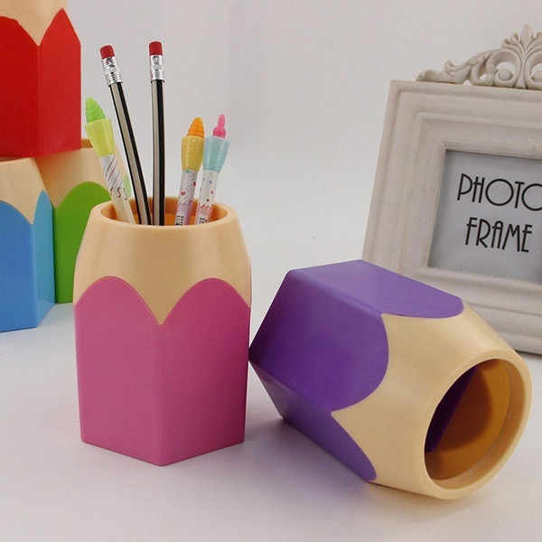 2019 جديد فرشاة للمكياج الإبداعية القلم زهرية قلم رصاص وعاء فرشاة للمكياج حامل القرطاسية مكتب مرتب الحاويات 3.8