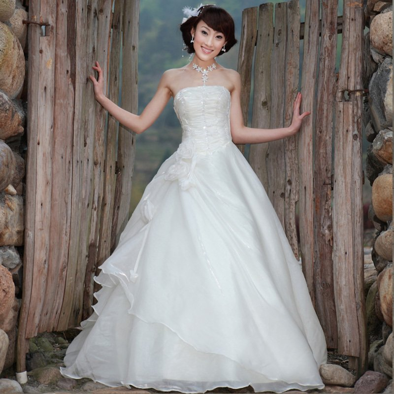 Hot Sale! 2012 new arrival tube top wedding dress princess wedding ...