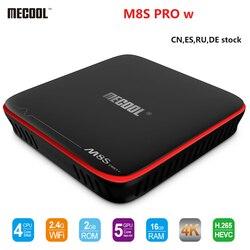 MECOOL S905W M8S PRO W Android 7.1 Caixa de TV Inteligente Amlogic CPU Quad Core 4K H.265 3D HD 2GB de RAM DDR4 16GB Caixa de TV Android