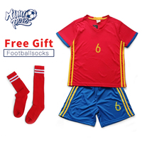 Himipopo 2017 Children Football Kits Summer Kids Jersey Sets Shorts Sport Football Training Clothes Boys Soccer