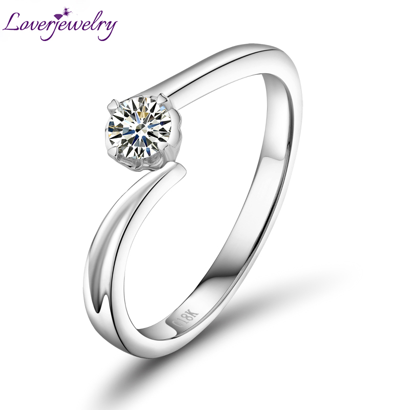 New Arrivals 0.20 Carat Natural Diamond Promised Ring In 18Kt White Gold Fine Jewelry for Wife Beautiful Loving Gift WU141 цена