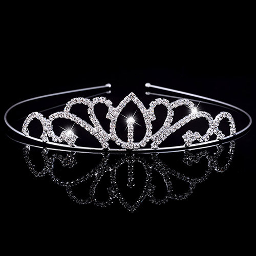 Baby Hairband birthday Tiara Rhinestone Child Tiaras And Crowns Hoops Princess Crown For Girls Hair Head Jewelry Accessories