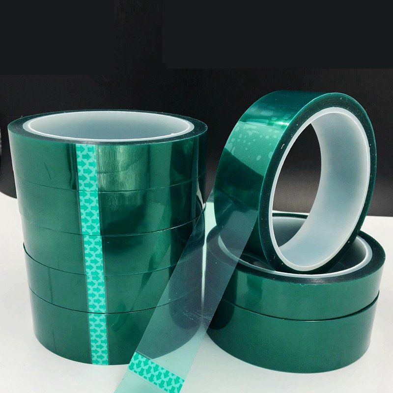 50mm X 33m Heat-resistant PET High Temperature Green Masking Tape Shielding untuk PCB Solder Plating Insulation Protection