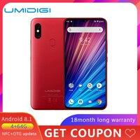 UMIDIGI F1 играть 48MP + 8MP + 16MP 5150 mAh Мобильный телефон Android 9,0 6 ГБ Оперативная память 64 Гб Встроенная память 6,3