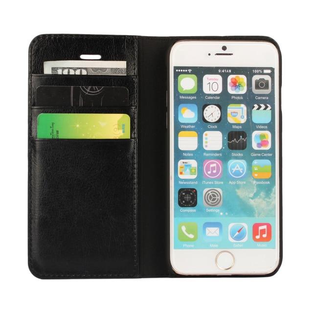 Coque Untuk iphone 6 6 s Asli Nyata Balik Kulit Kasus Pelindung - Aksesori dan suku cadang ponsel - Foto 6