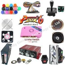 цены на Arcade parts Bundles kit With Joystick Pushbutton switch button Pandora Box 6 Game PCB to Build Up 2 player Arcade Machine в интернет-магазинах