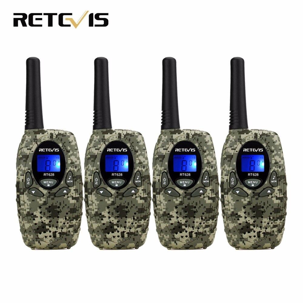 bilder für 4 stücke Retevis RT628 Mini Kinder Radio Walkie Talkie Kinder 0,5 Watt VOX PTT LCD PMR Frequenz Tragbare Ham Radio Hf Transceiver