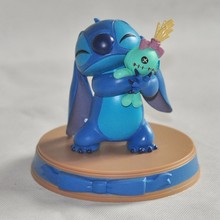 Hot Stitch Doll , Lilo & Happiness Moment And Scrump PVC Action Figure Collectible Model Toy For Kid Birthday Gift