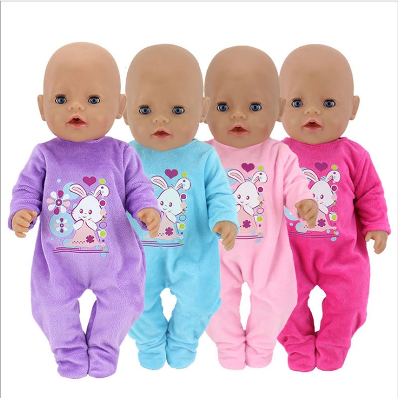 Fit 18 Inch 40-43cm Born Baby Doll Clothes Doll Unicorn Rabbit Down Jackets Shoes Accessories For Baby Birthday Festival Gift