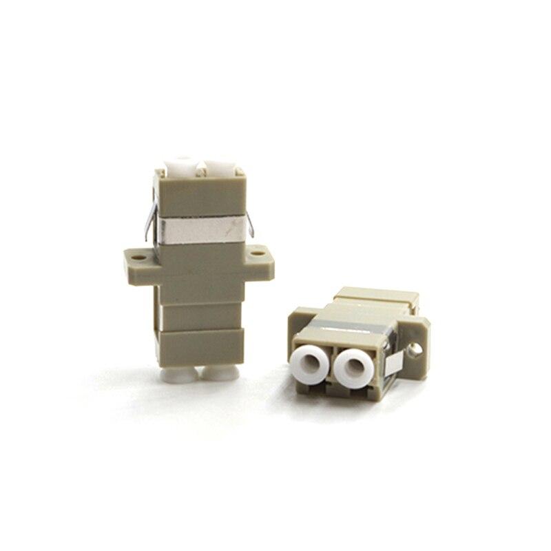 50pcs/lot LC-LC Fiber Optical Adapter Connector Multi-mode LC Adapter Duplex Fiber Coupler50pcs/lot LC-LC Fiber Optical Adapter Connector Multi-mode LC Adapter Duplex Fiber Coupler
