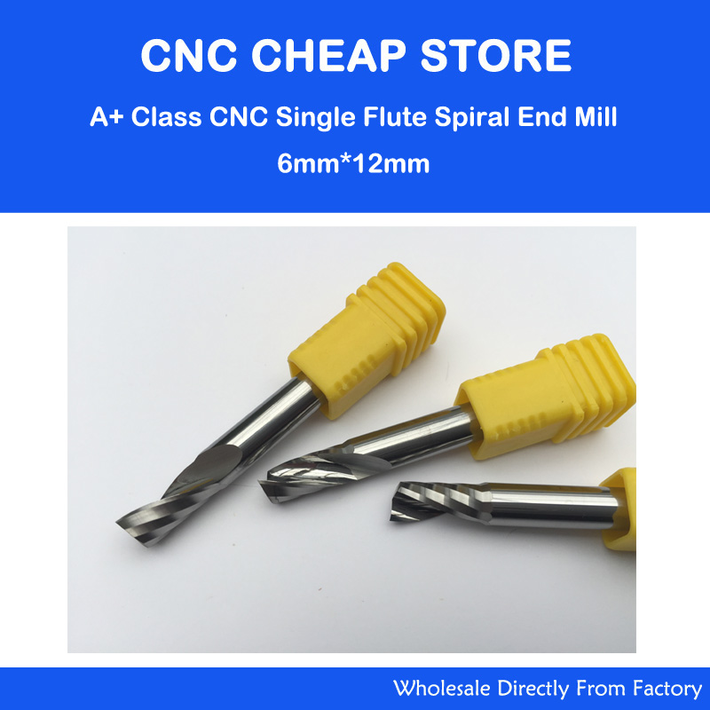 3pcs 6mm 1/4 High Quality Carbide CNC Router Bits One Single Flute End Mill Tools 12mm 5pcs 617 one spiral flute bit cnc router bits 6mm 17mm high quality solid carbide end milling free shipping
