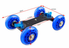 Photo DNEW SLR Camera Video Slider Track Skater Dolly Board Flexible Car for Speedlite Camcorder Camera DSLR