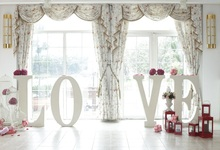 Laeacco Curtain Love Model Flowers Lamp Photocall Wedding Photo Backgrounds Customized Photographic Backdrops For Studio