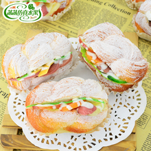Artificial bread cake sandwich model set derlook photography props