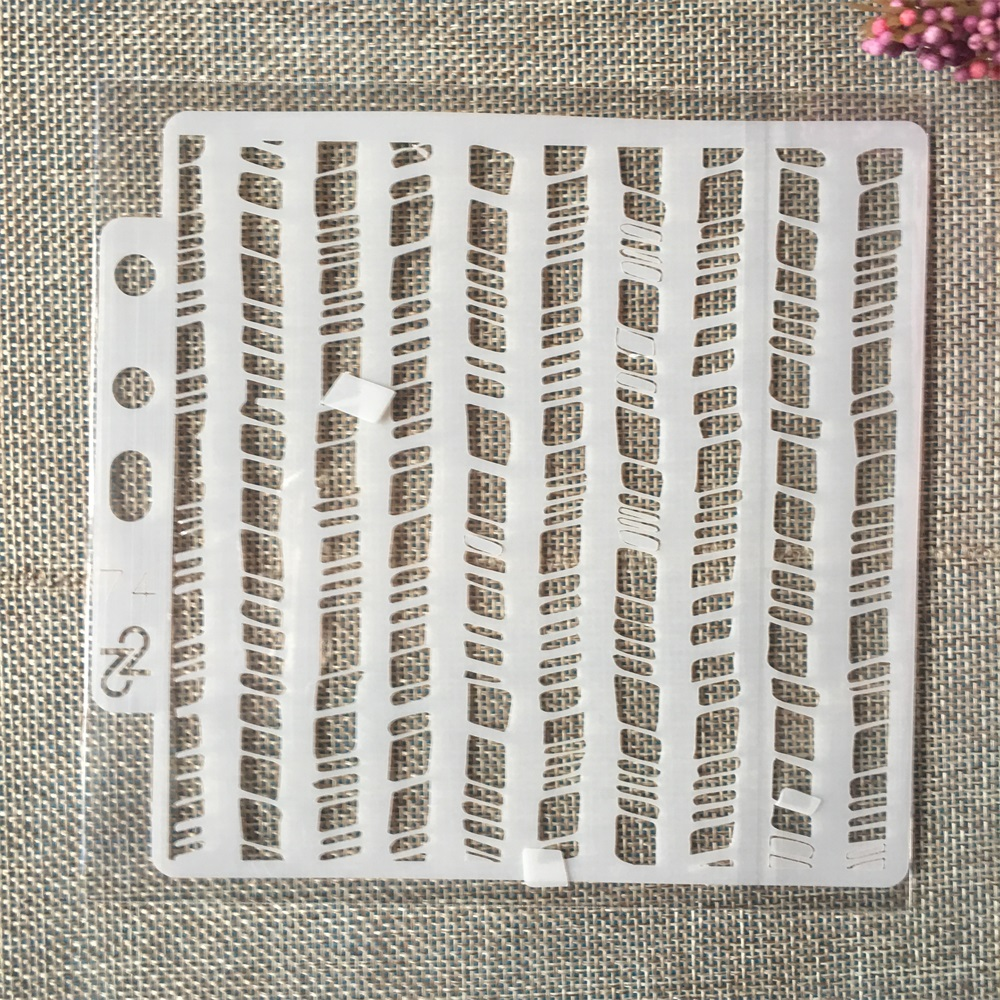 5.1inch Wavy Fence Line DIY Layering Stencils Painting Scrapbook Coloring Embossing Album Decorative Card Template
