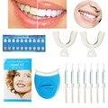 2016 Novos Dentes Luz Branca Branqueamento Conjunto Gel Clareador de Dente Oral Care Kit Creme Dental Para Uso Pessoal Dental Care Saudável