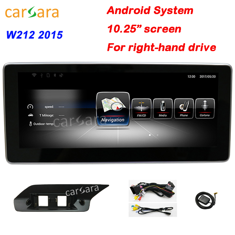 Mercedes W212 Android RHD Radio Facelift Stereo Wide Touch Screen Device In Dash Navigation AV Receiver for Ben z E Class 2015