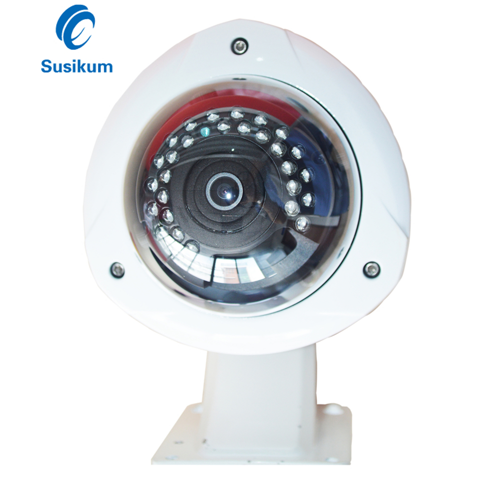 H.265 4MP ONVIF Panoramic POE IP Camera 180 Degree 360 Degree Fisheye Lens Waterproof Security Outdoor Dome Camera With Bracket