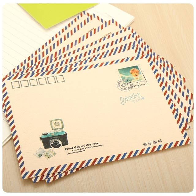 16pcs lot retro nostalgic time envelope stationery vintage style
