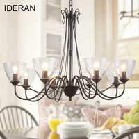 Modern Chandelier Lighting Lamp Chandeliers Hanging Lights Clear Glass Chandelier LED Light For Home Restaurant