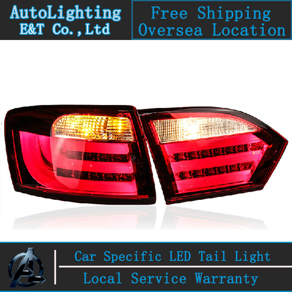 Auto Lighting Style LED Tail Lamp for VW Jetta MK6 led tail lights BMW Design rear trunk lamp cover drl+signal+brake+reverse