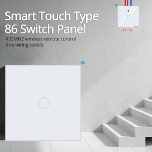Image 2 - TISHRIC RF Remote Controller 433Mhz Transmitter Wall Panel Sticky Smart/Google Home work with SONOFF RF/T1/T2/Bridge/4CH PRO r2