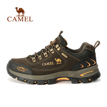 Camel camel for outdoor comfortable walking shoes lovers design lacing shock absorption walking shoes