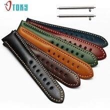 Excellente Qualité Pour Samsung Gear S3 Classique Smart Bracelet 21mm En Cuir Véritable Montre Bandes Remplacement Bracelet En Cuir