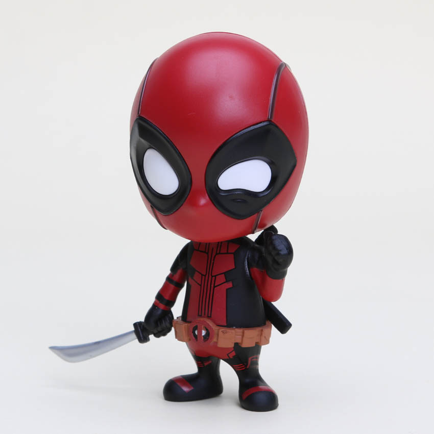 Marvel 13styles 10cm Deadpool Figure Bobble-Head 1/10 scale painted Deadpool spider man Black Panther Doll PVC action figure toy 1