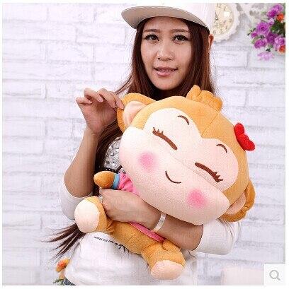 Belle peluche singe jouet mignon fille singe poupée heureux singe jouets cadeau poupée environ 50 cm 0131
