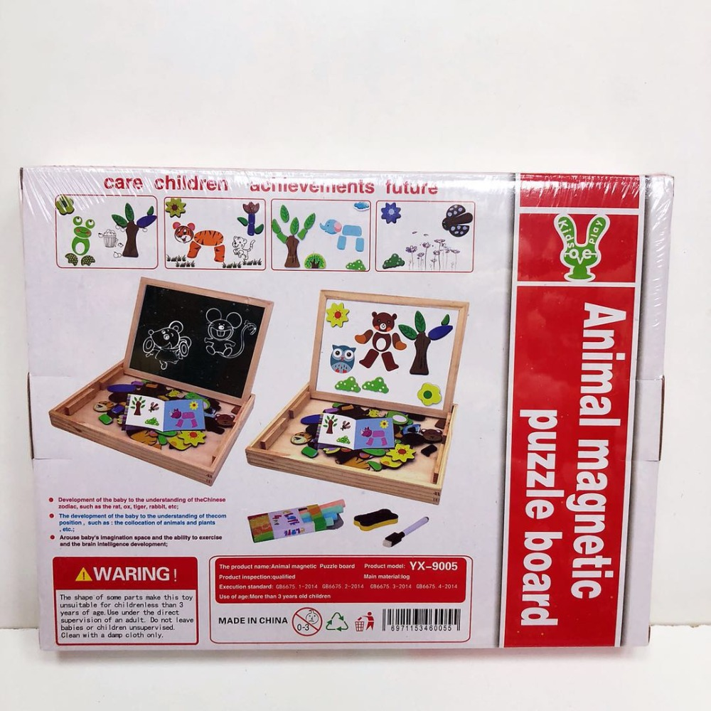 Puzzles for kid Multipurpose Study Box Children s educational toys Learning wooden toys gifts for baby