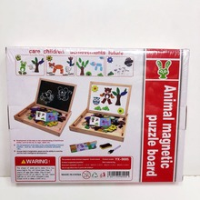 Многофункциональный деревянные игрушки Двухсторонняя доска для рисования обучающие магнитные пазлы маркерная развивающие игрушки головоломки монтессори ,Мозаика для малыш, творчество для детей ,доставка из России