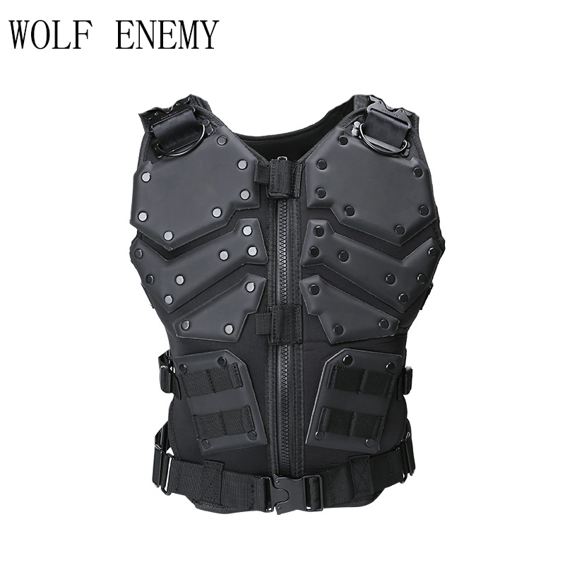 Molle Tactical Hunting Combat G.I.J Body Vest Body Protector Black body shaper vest black оптовые фламенко fabric shapewear для женщин