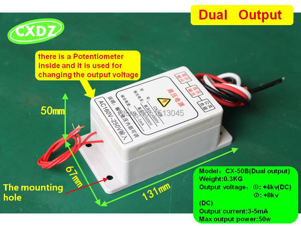 High Voltage Supply : High voltage power supply dual output kv for